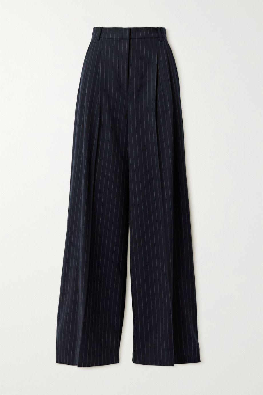 Joseph Tima pinstriped wool-blend flannel wide-leg pants