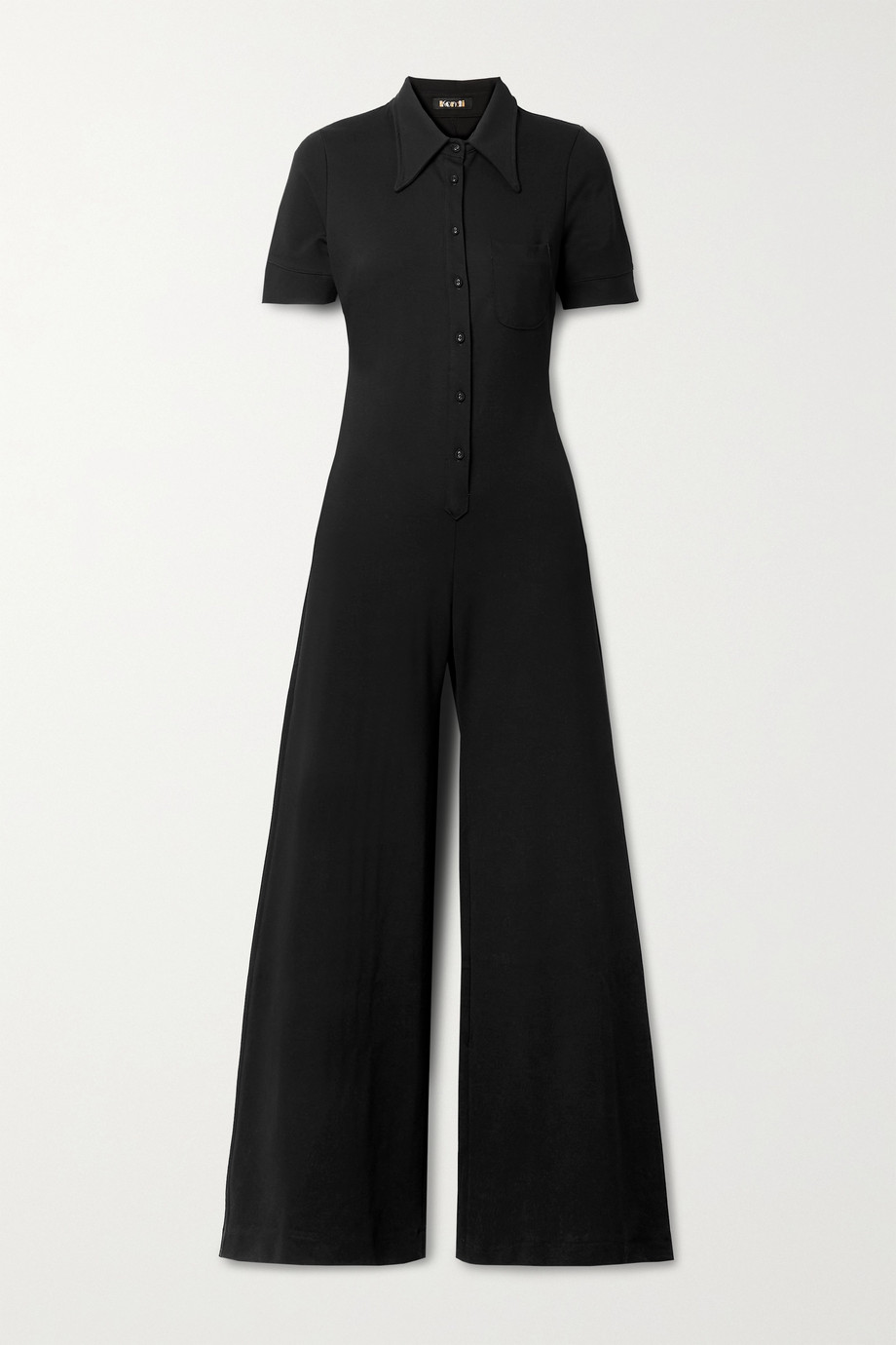 Suzie Kondi Combi-pantalon en mailles point de Rome stretch