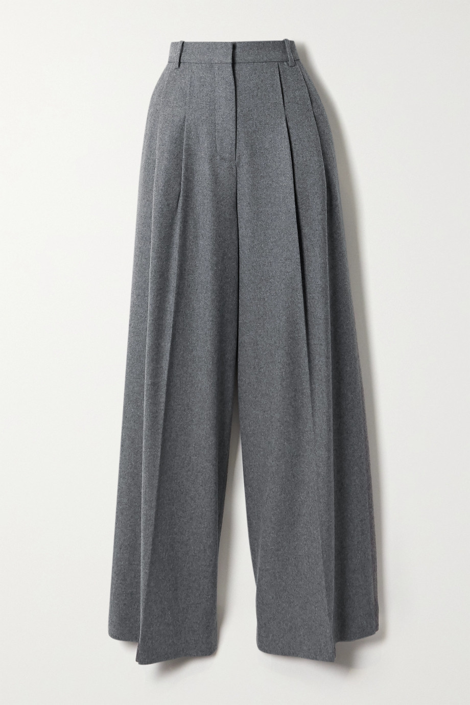 Joseph Tima wool and silk-blend flannel wide-leg pants