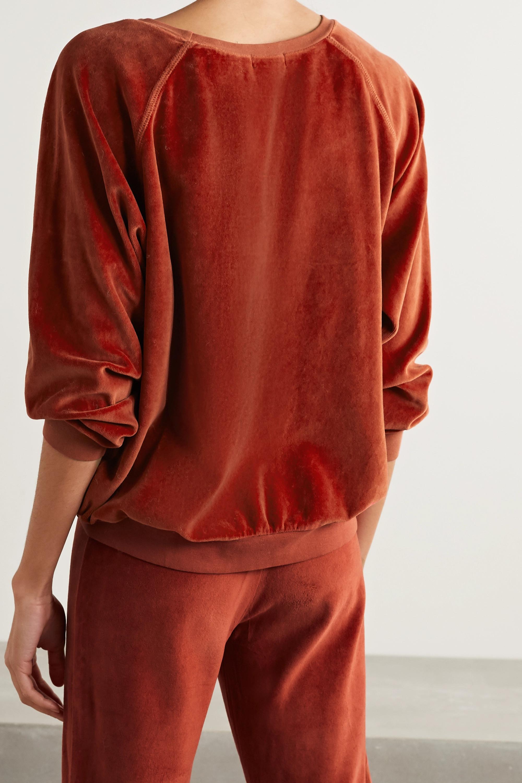Suzie Kondi Stretch cotton-blend velour sweatshirt