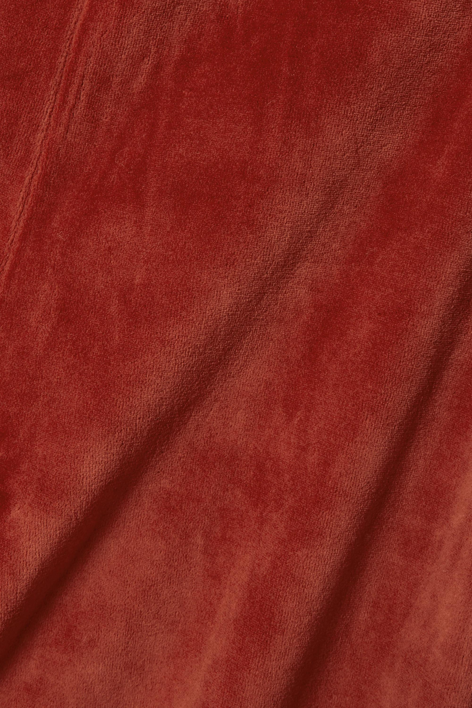 Suzie Kondi Stretch cotton-blend velour track pants