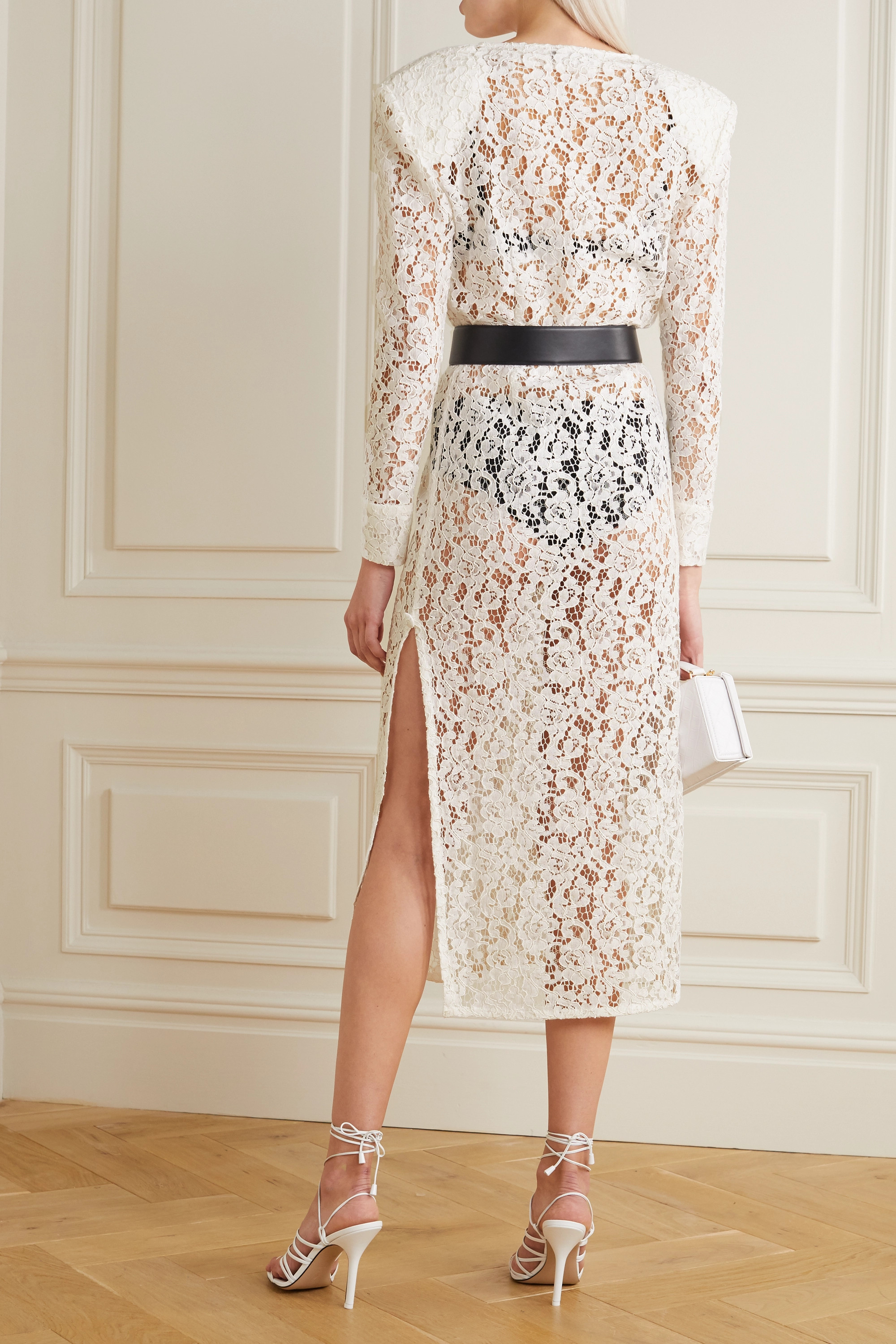 Alessandra Rich Corded lace midi dress