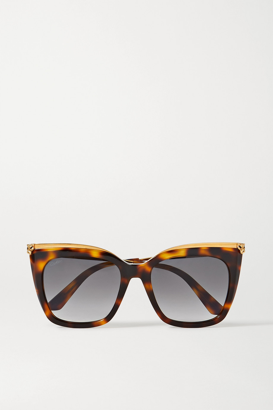 Cartier Eyewear Cat-eye gold-tone and tortoiseshell acetate sunglasses