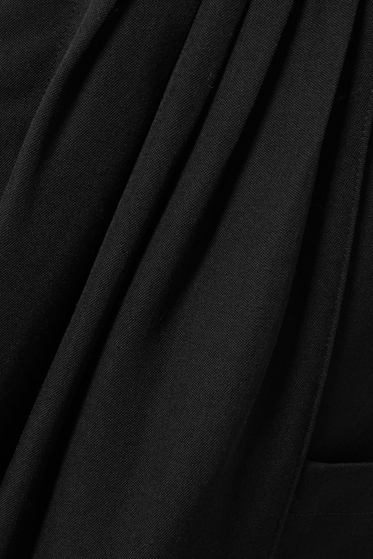 Alessandra Rich Hose aus Wolle mit Falten