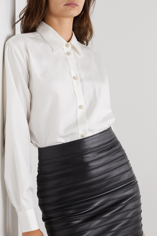 Alessandra Rich Embellished silk shirt