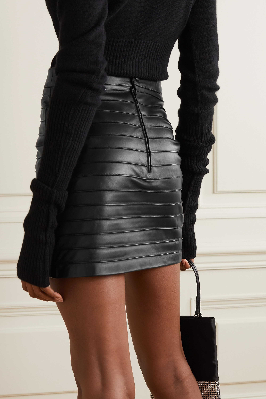 Alessandra Rich Paneled leather mini skirt