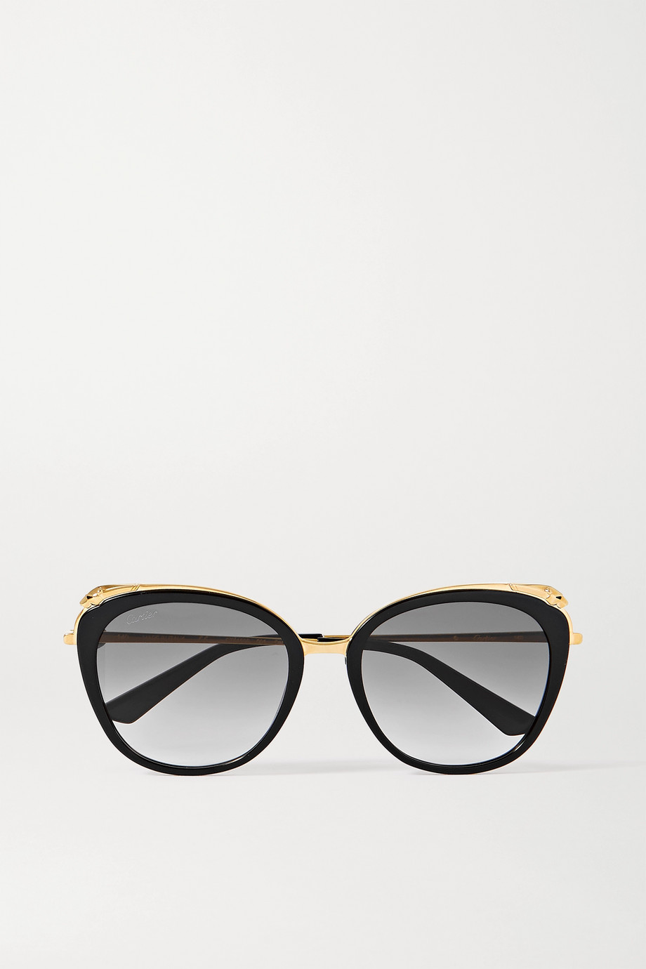 Cartier Eyewear Cat-eye acetate and gold-tone sunglasses