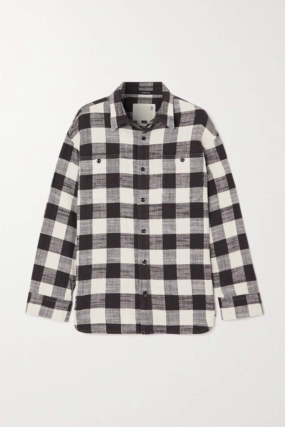 R13 Oversized checked cotton-gauze shirt