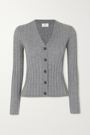 Allude Ribbed wool cardigan