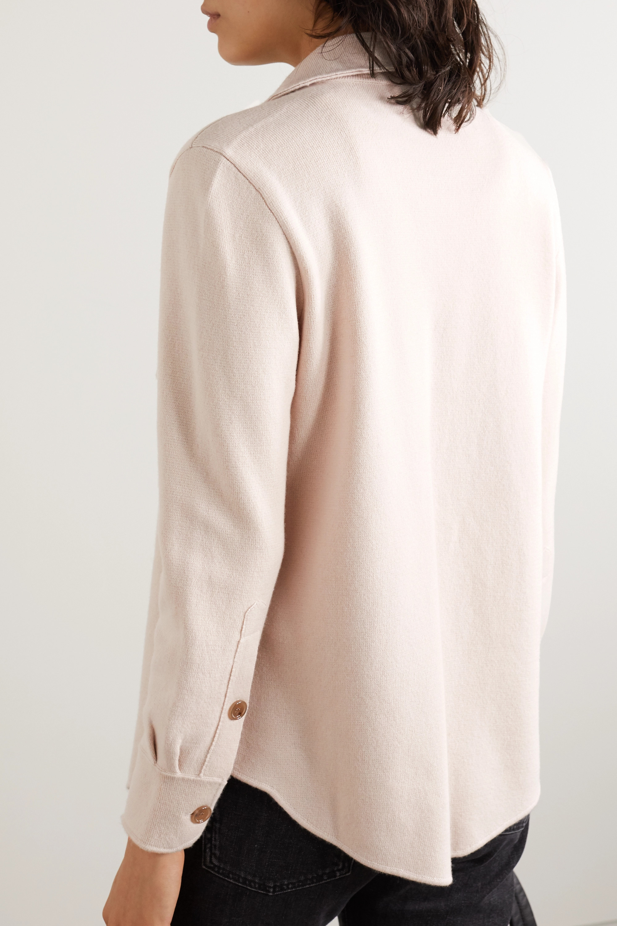 Allude Wool and cashmere-blend shirt