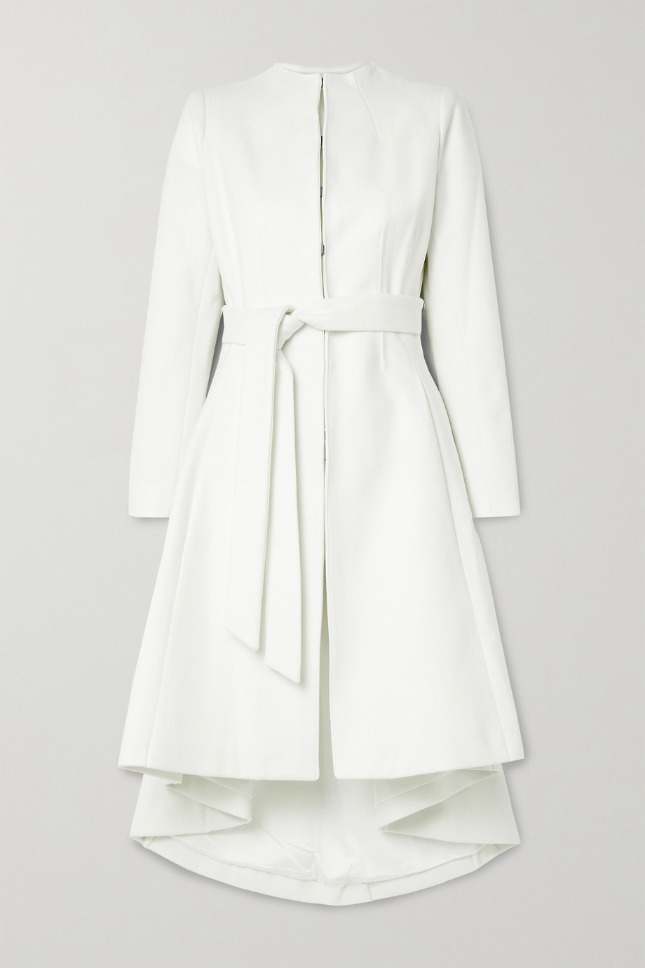 Alice + Olivia Bain belted felt coat