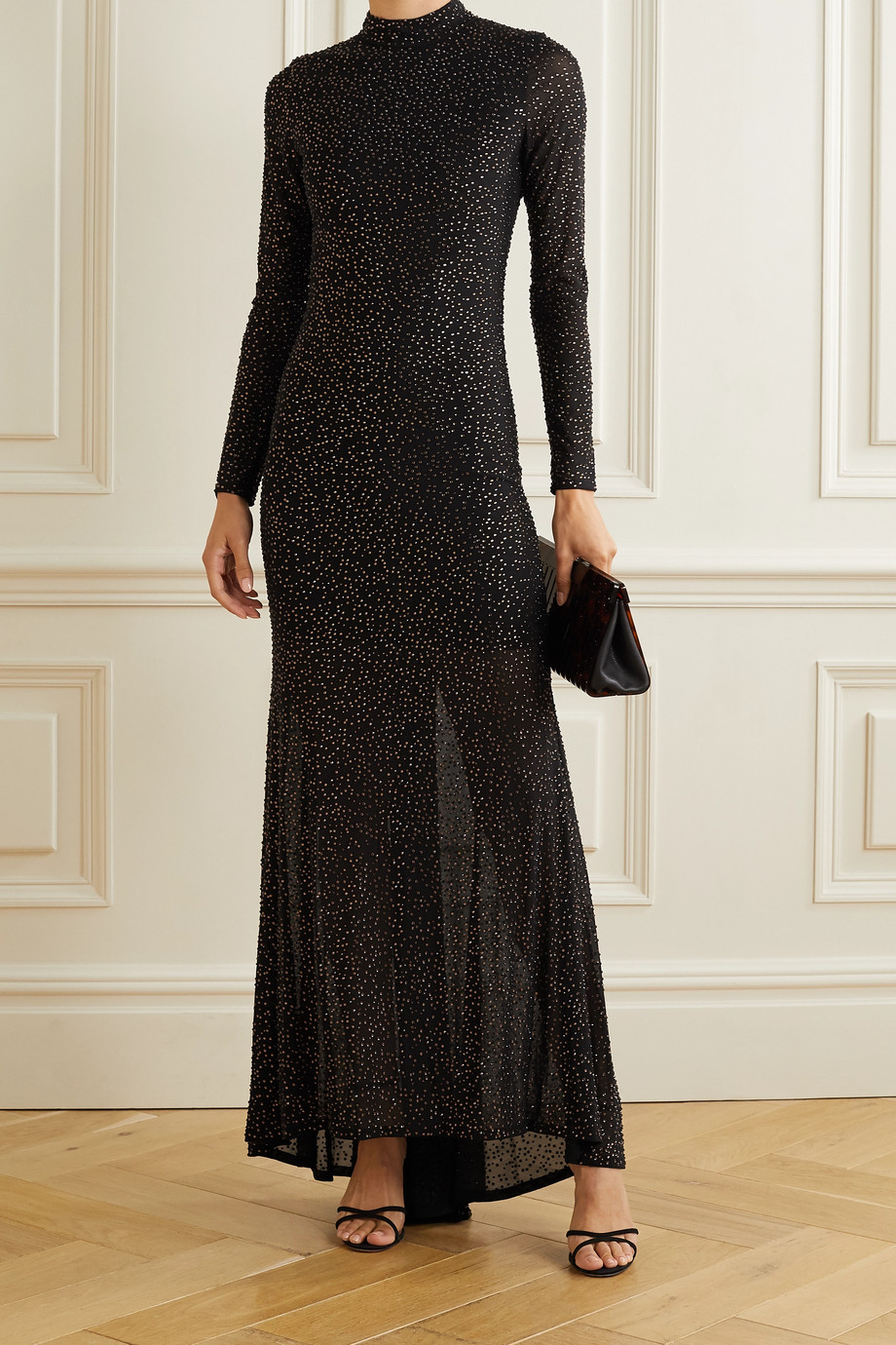 Alice + Olivia Delora crystal-embellished tulle gown