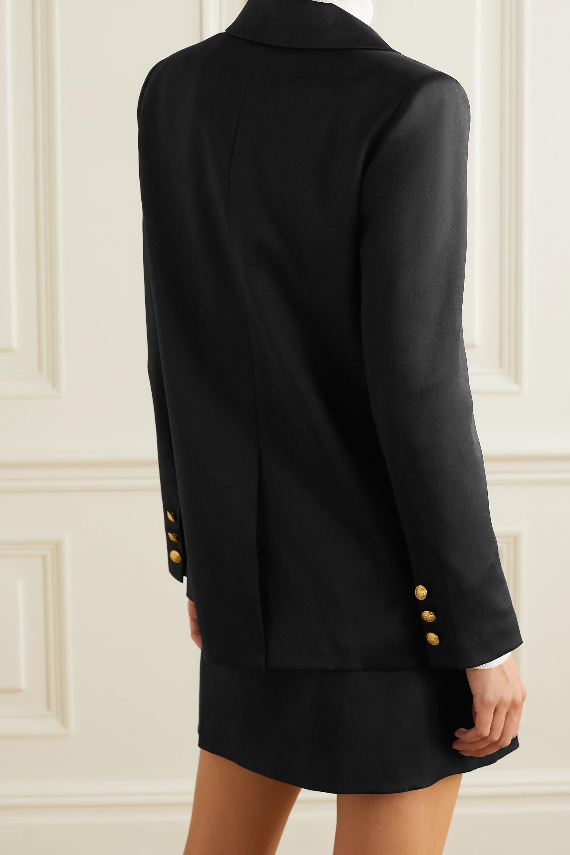 Alice + Olivia Bergen double-breasted wool-blend blazer