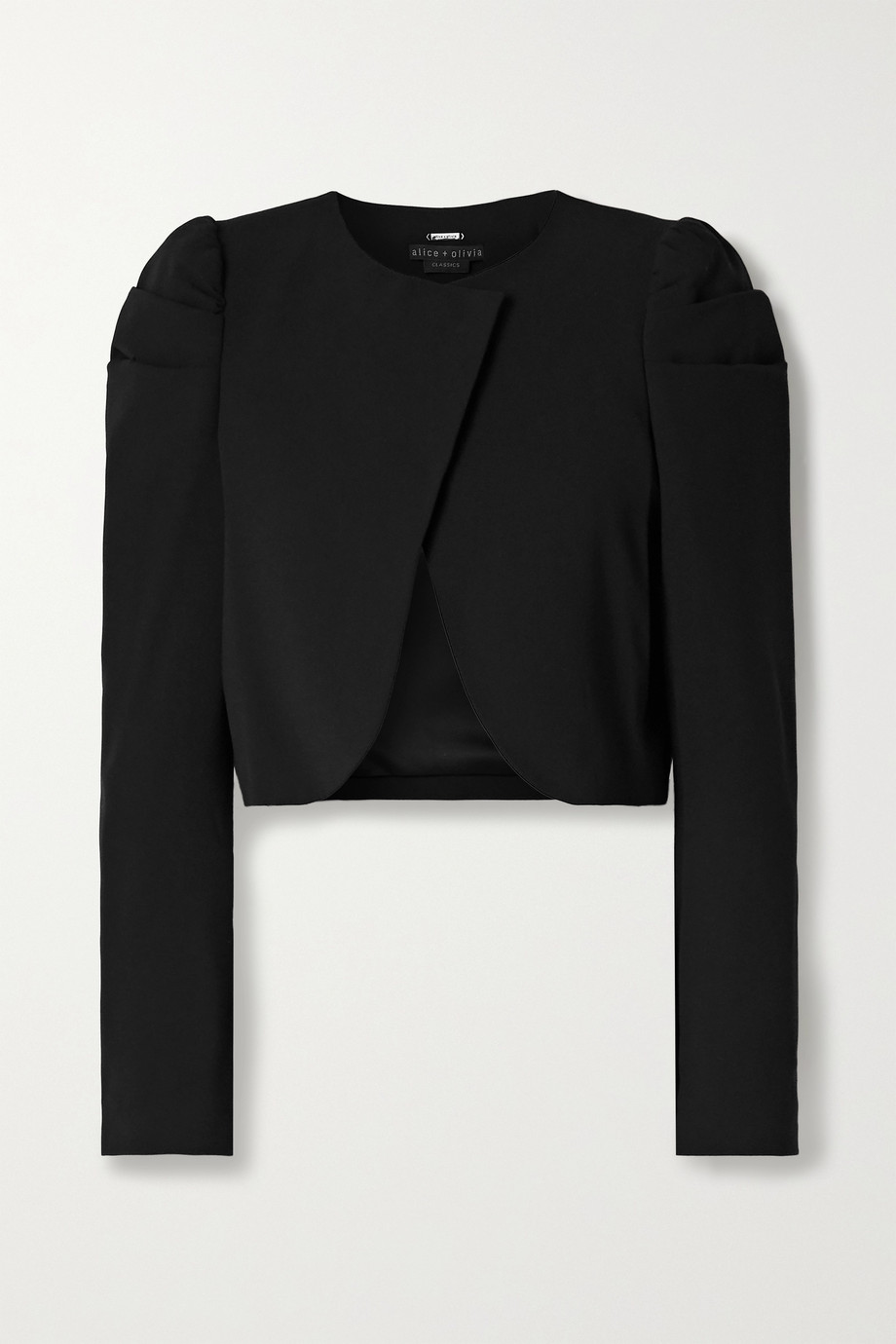 Alice + Olivia Addison cropped crepe jacket