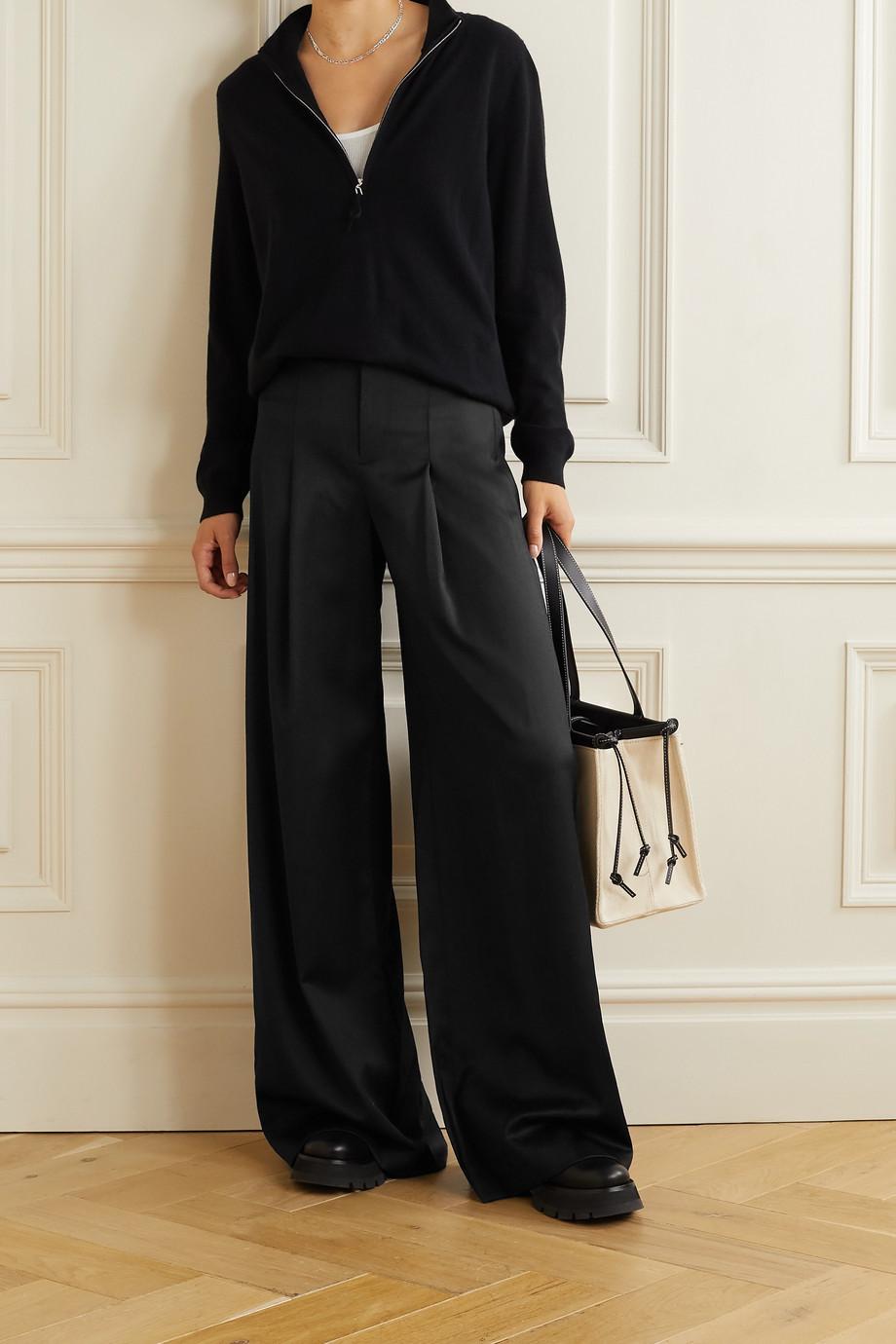 Alice + Olivia Merilyn wool-blend wide-leg pants