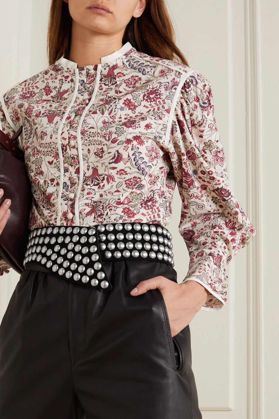 Isabel Marant Milda studded suede waist belt