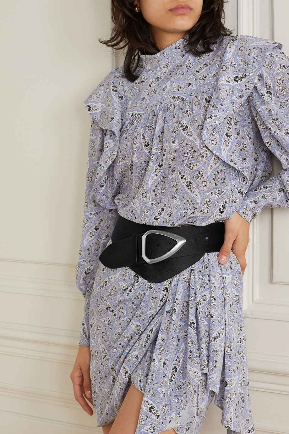 Isabel Marant Linka calf hair waist belt