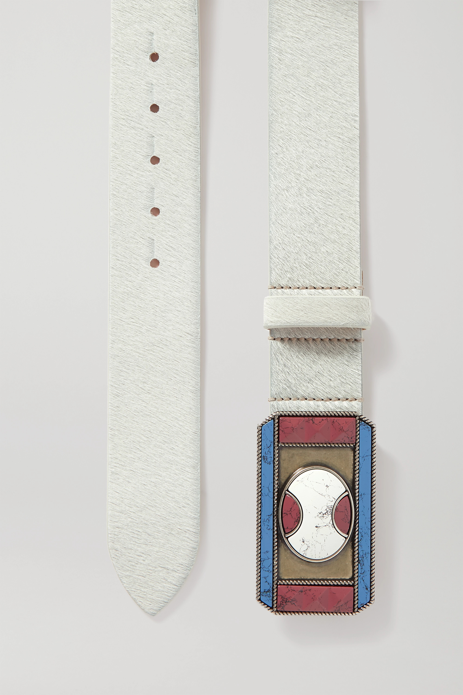 Isabel Marant Liroy embellished calf hair waist belt