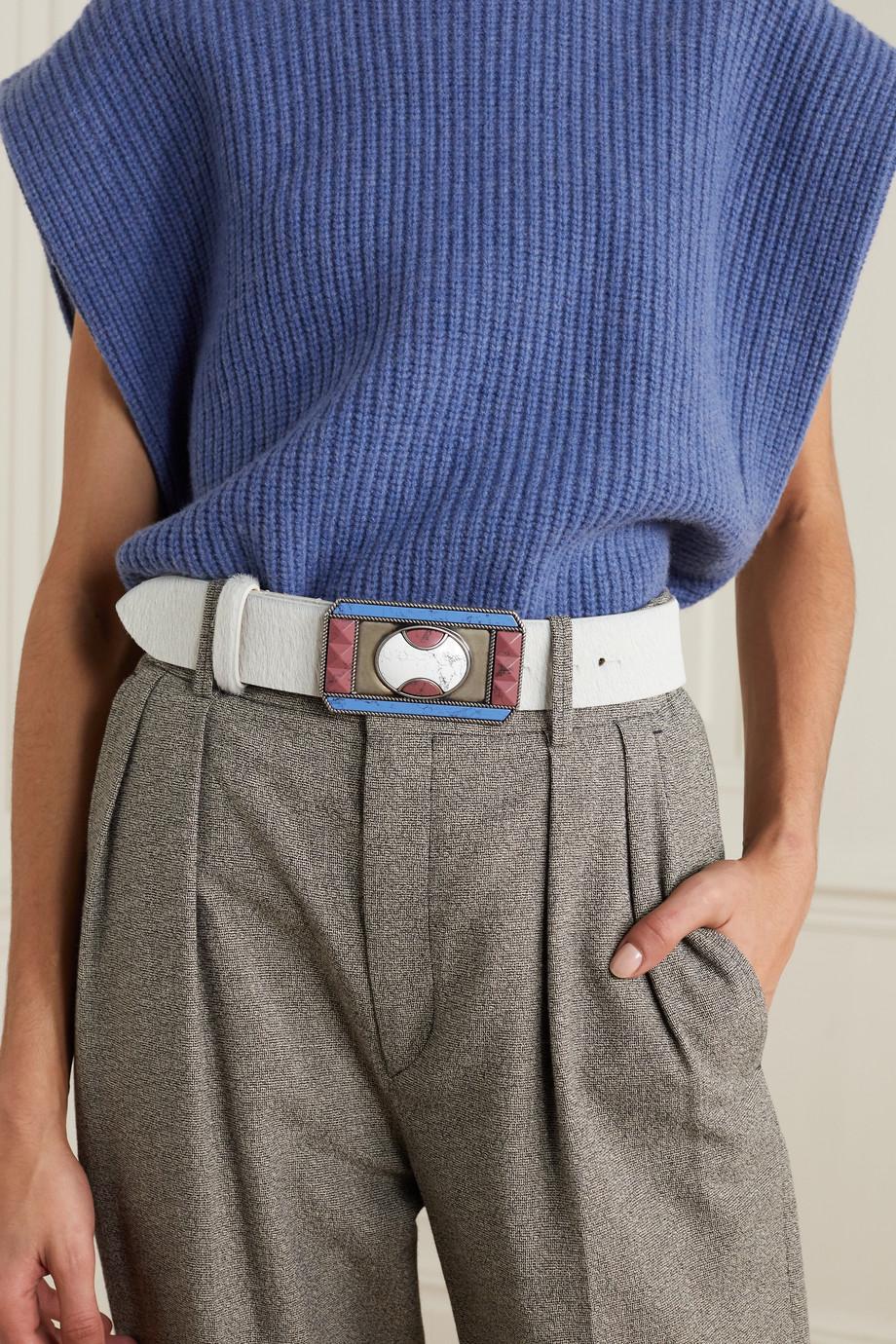 Isabel Marant Liroy Taillengürtel aus Kalbshaar mit Verzierungen