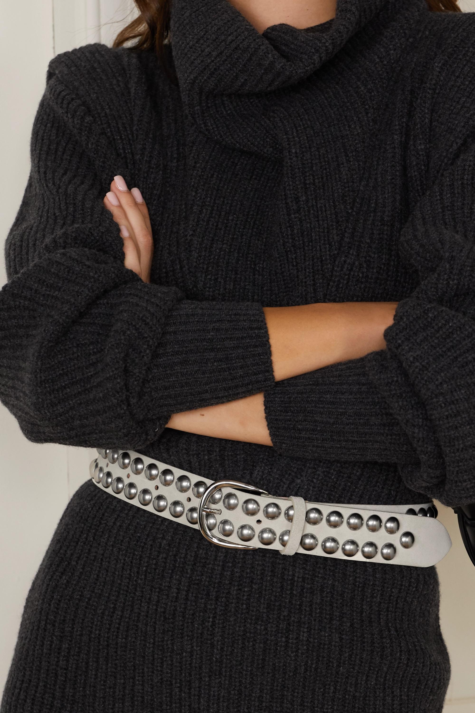 Isabel Marant Zaf studded nubuck belt