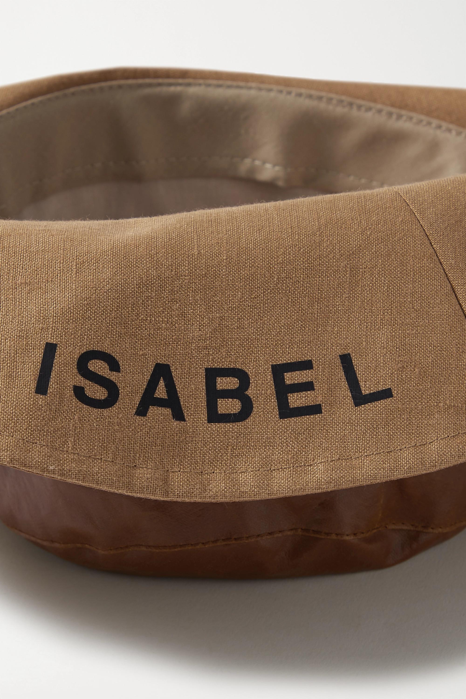 Isabel Marant Loiena coated linen-blend sunhat