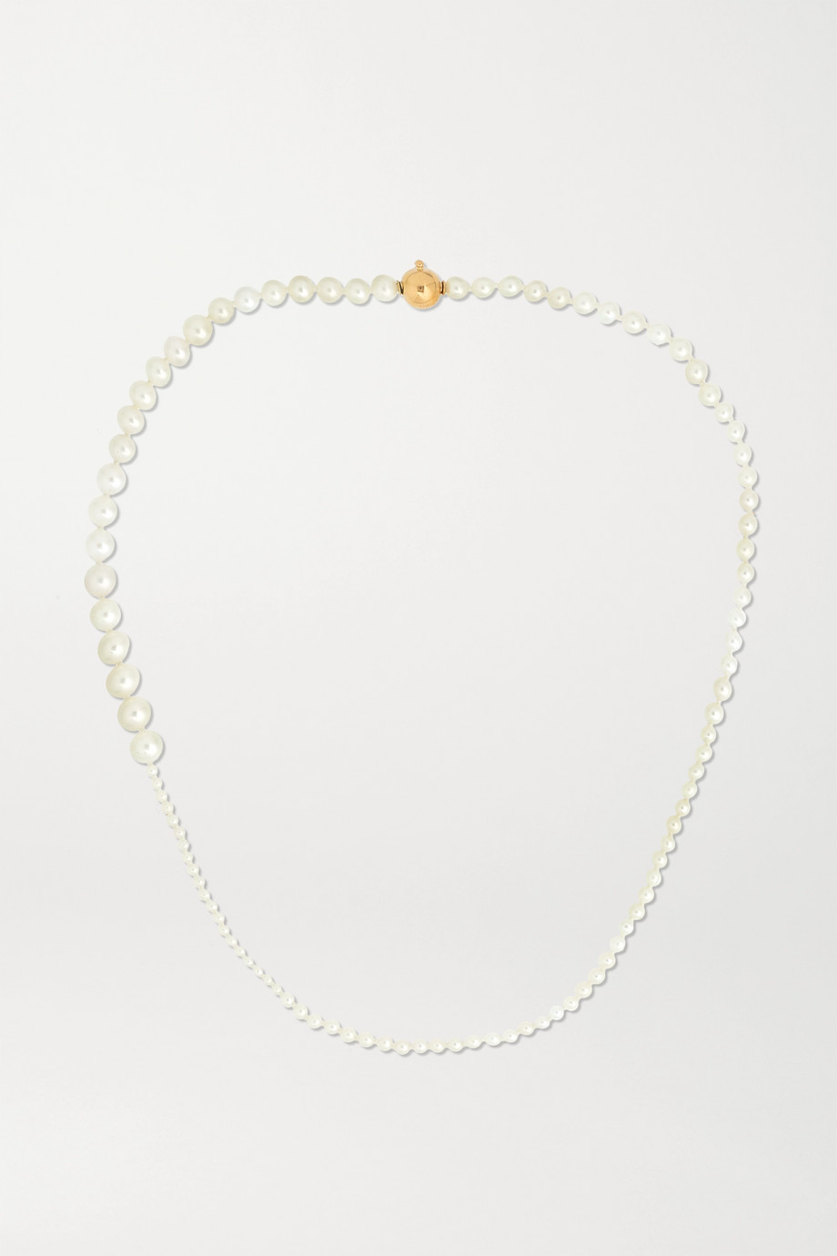 Sophie Bille Brahe Petite Peggy 14-karat gold pearl necklace