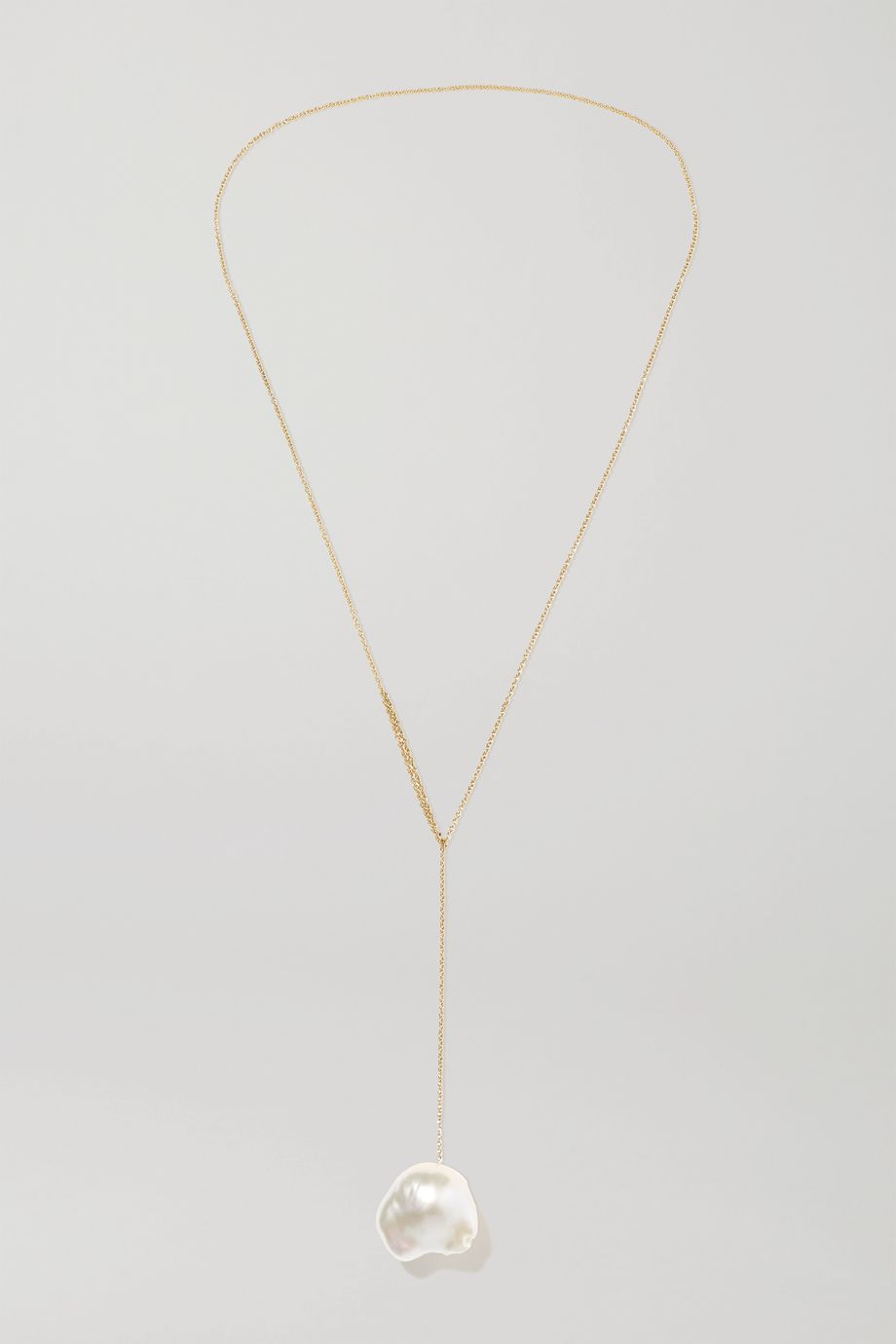 Sophie Bille Brahe Sirene 14-karat gold pearl necklace