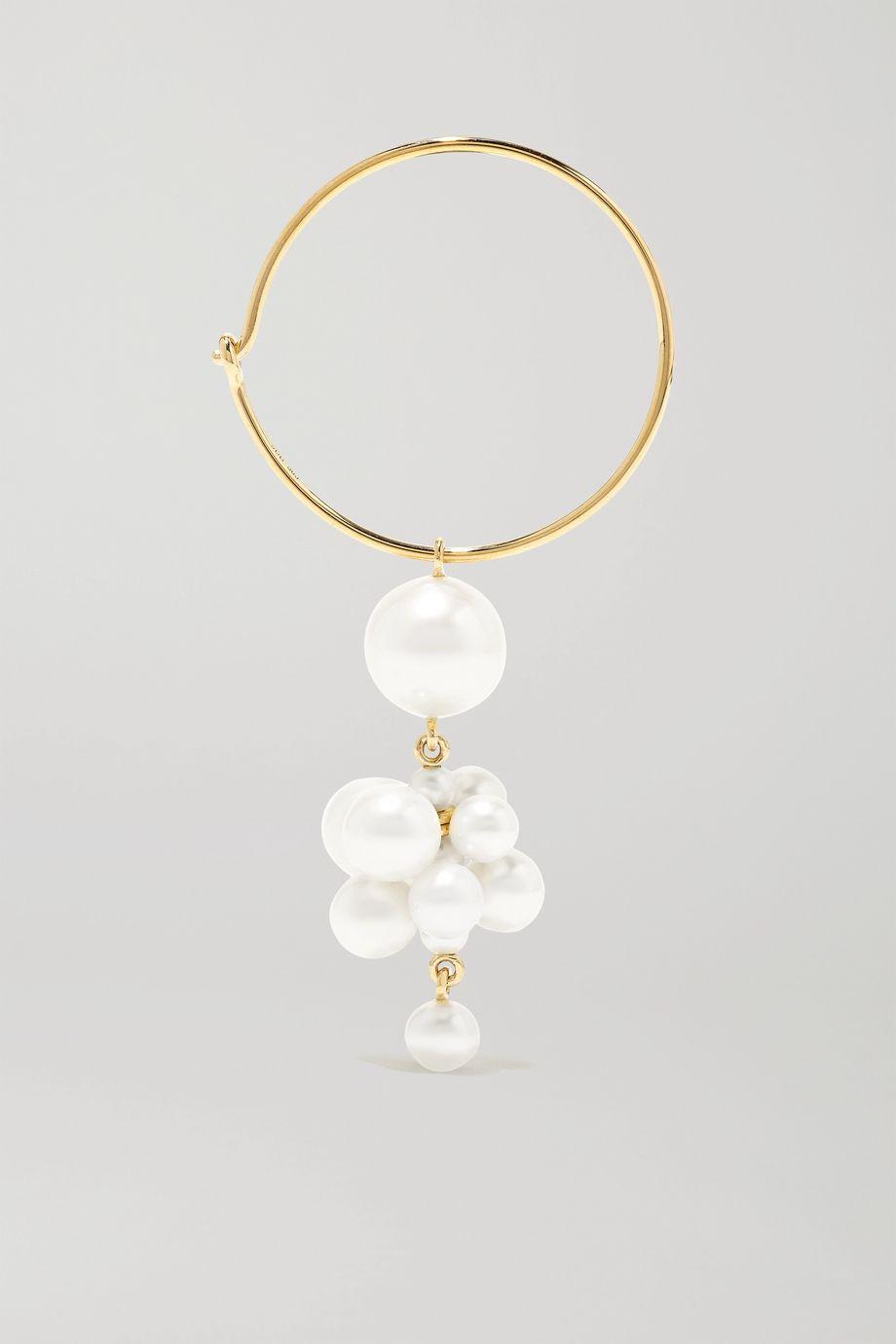 Sophie Bille Brahe Botticelli 14-karat gold pearl earring