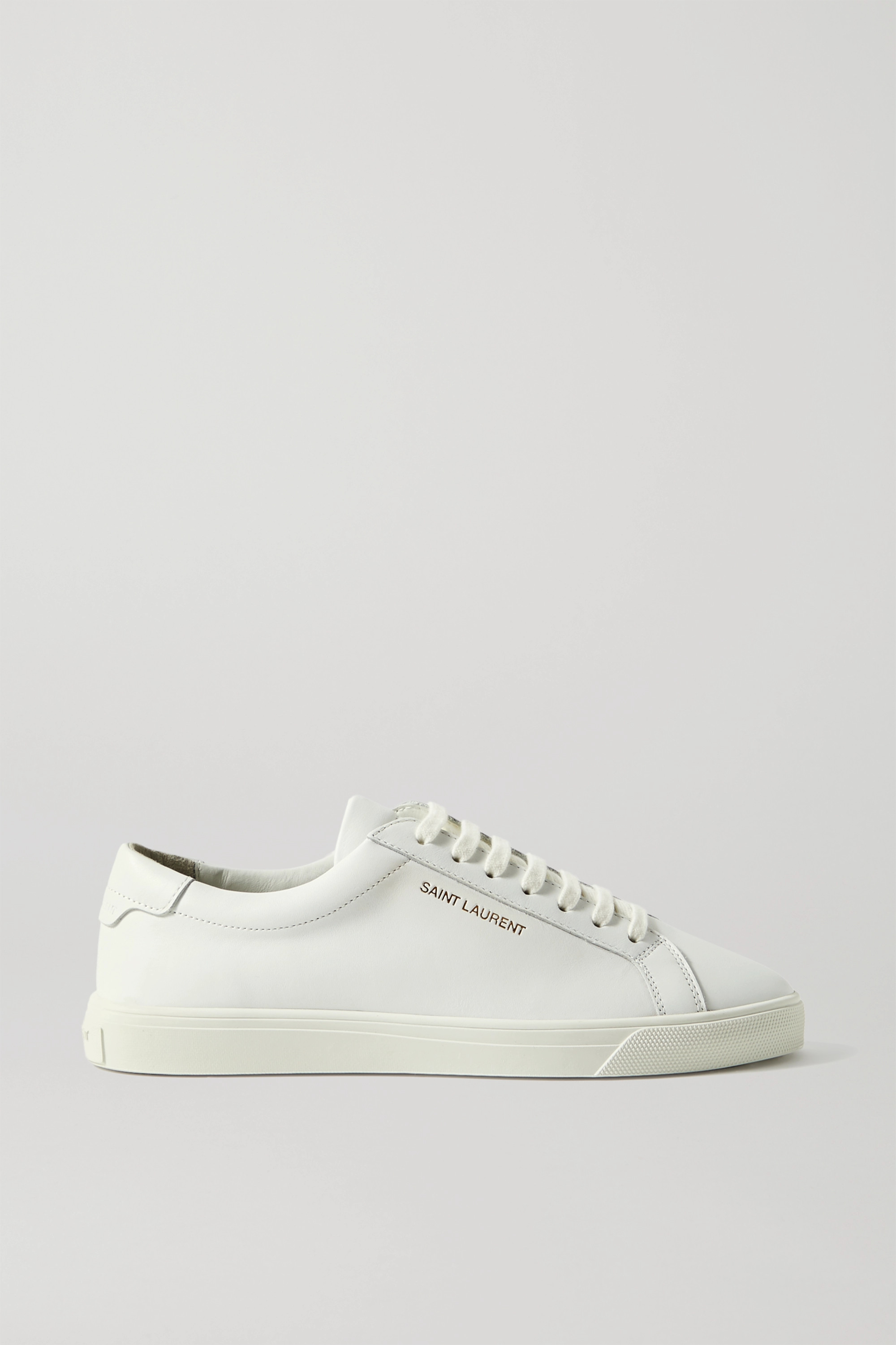 SAINT LAURENT Andy logo-print leather sneakers