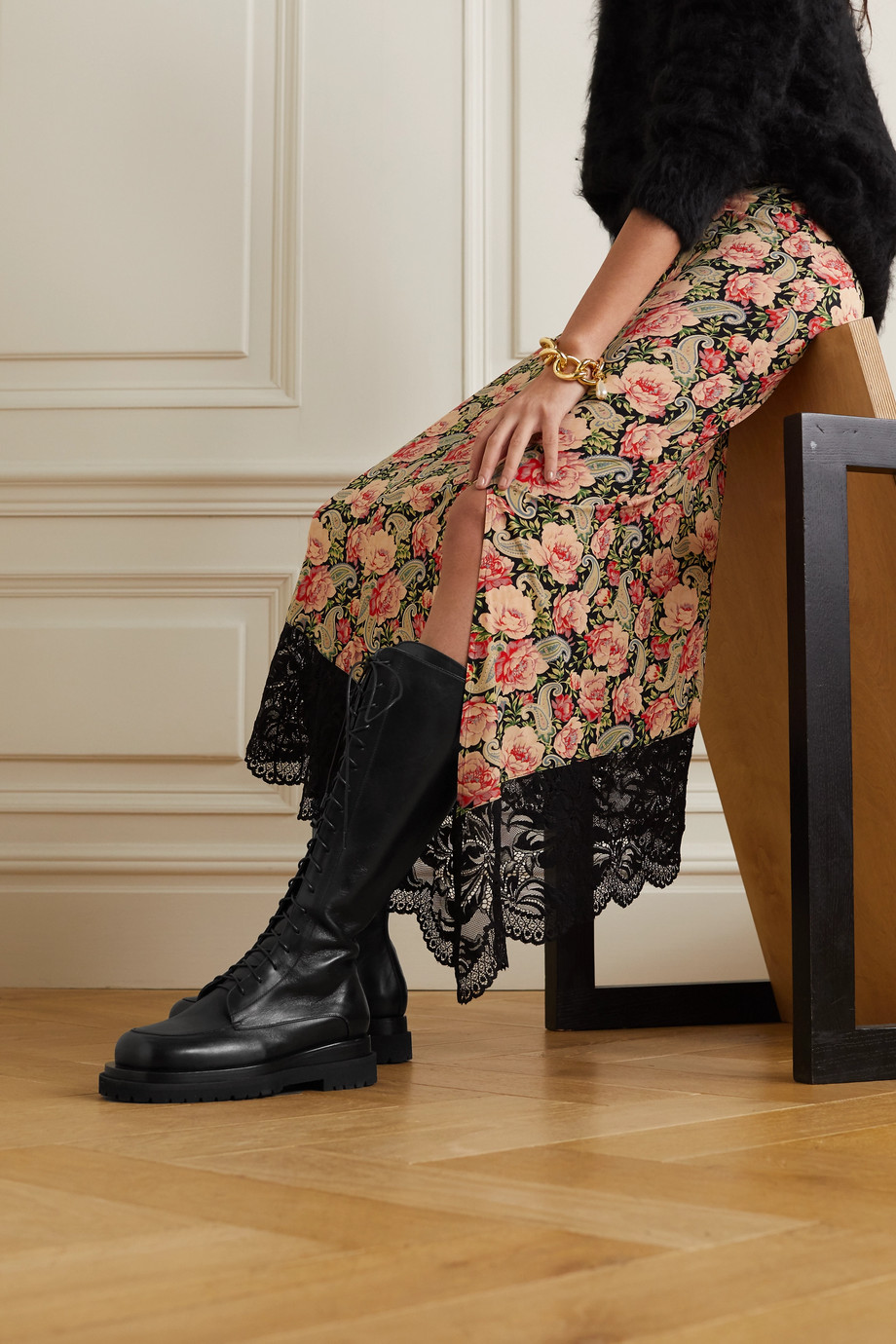 Magda Butrym Leather knee boots