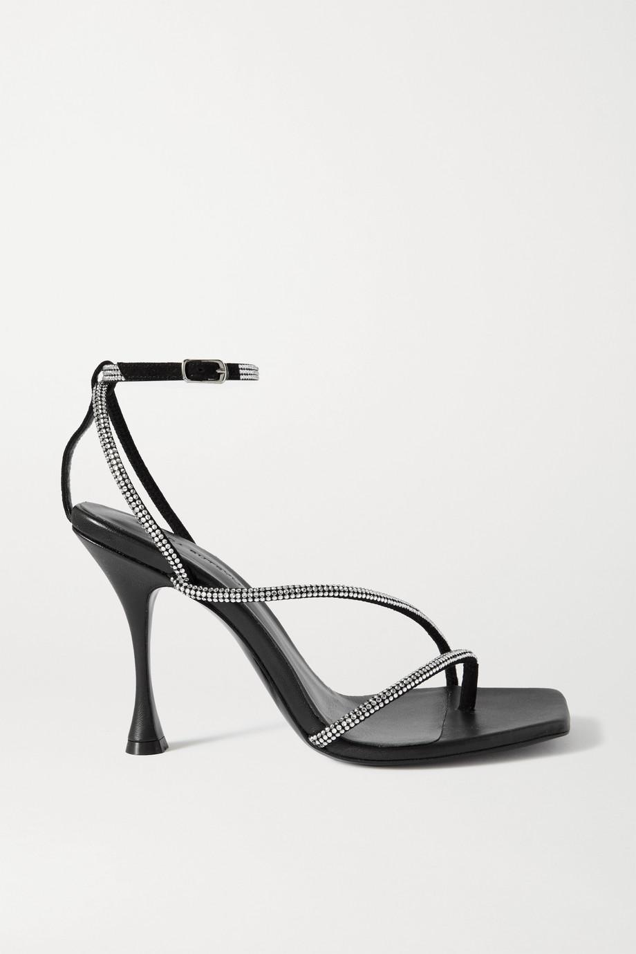 Magda Butrym Crystal-embellished suede sandals