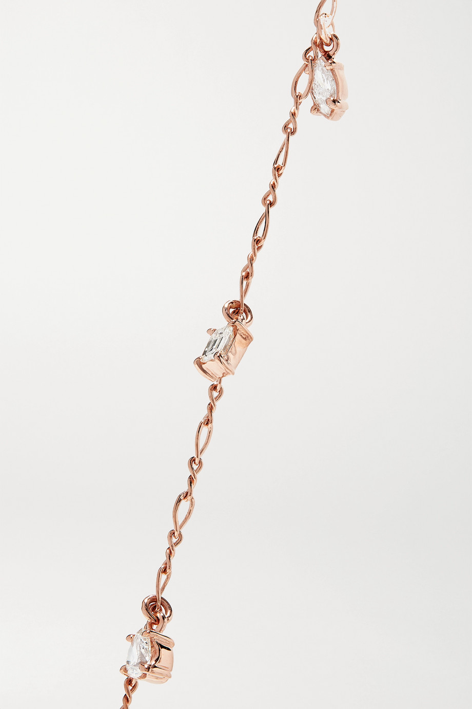 Kimberly McDonald 18-karat rose gold diamond anklet