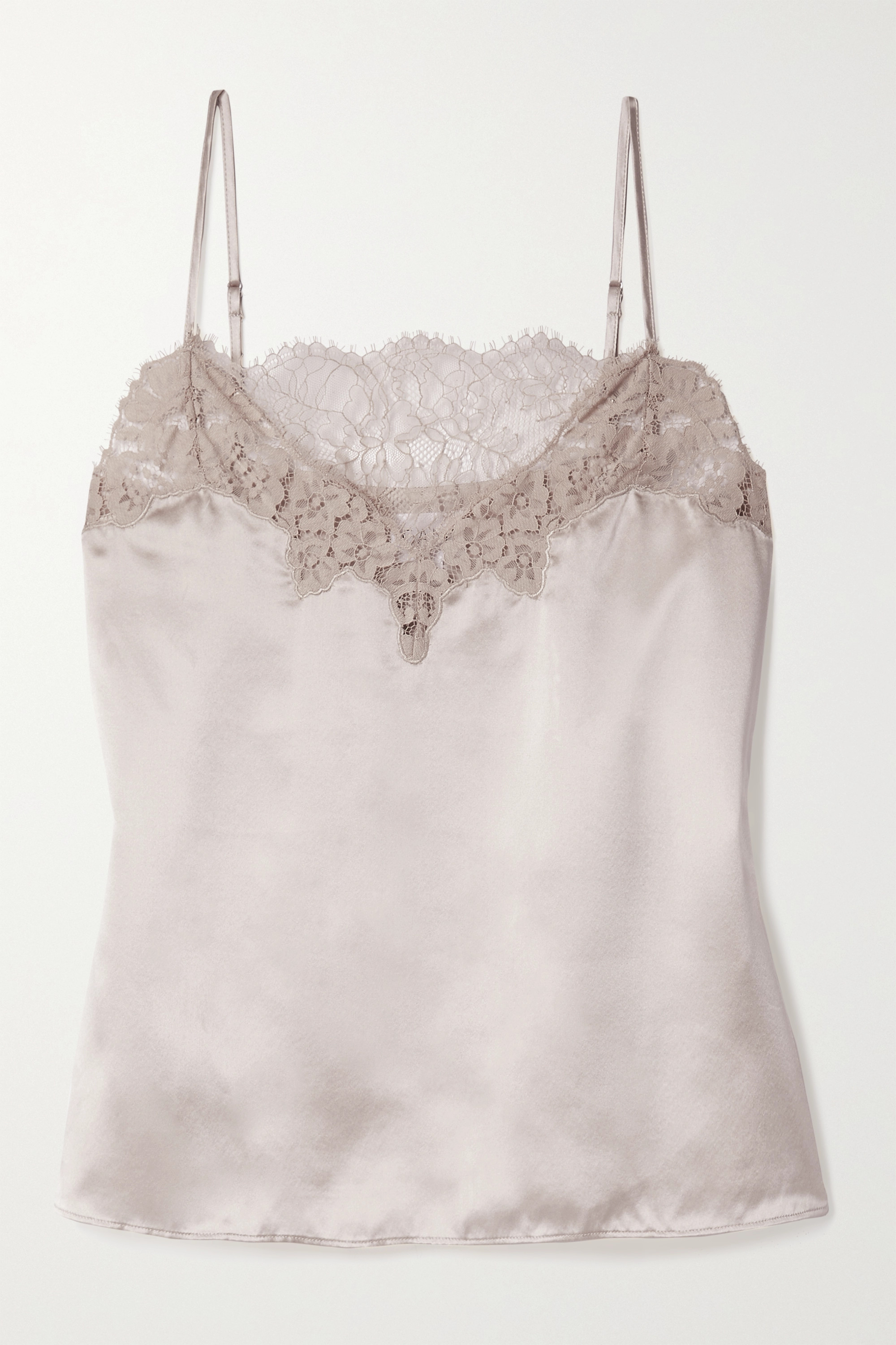 Cami NYC The Candice lace-trimmed silk-charmeuse camisole