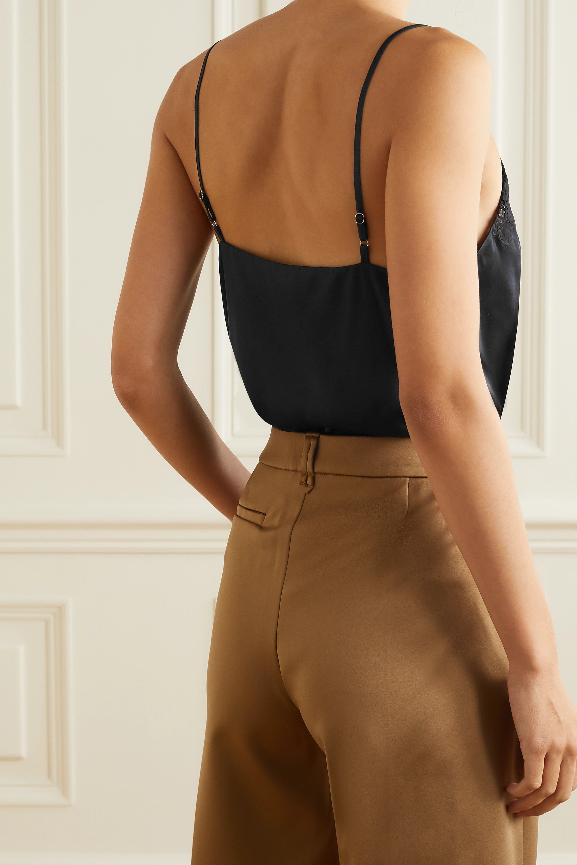 Cami NYC The Maida lace-trimmed silk-charmeuse camisole