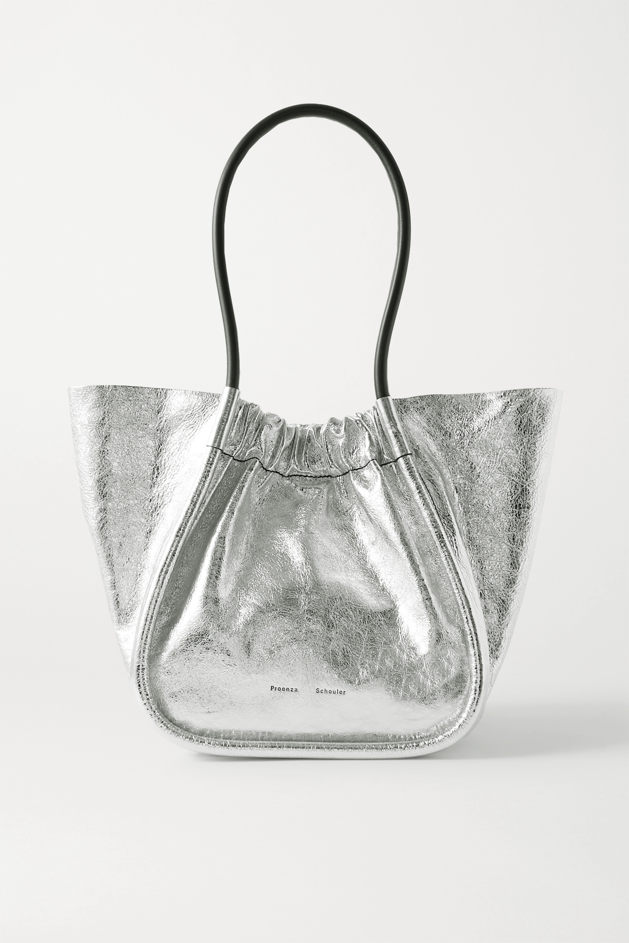 Proenza Schouler Large ruched metallic crinkled-leather tote