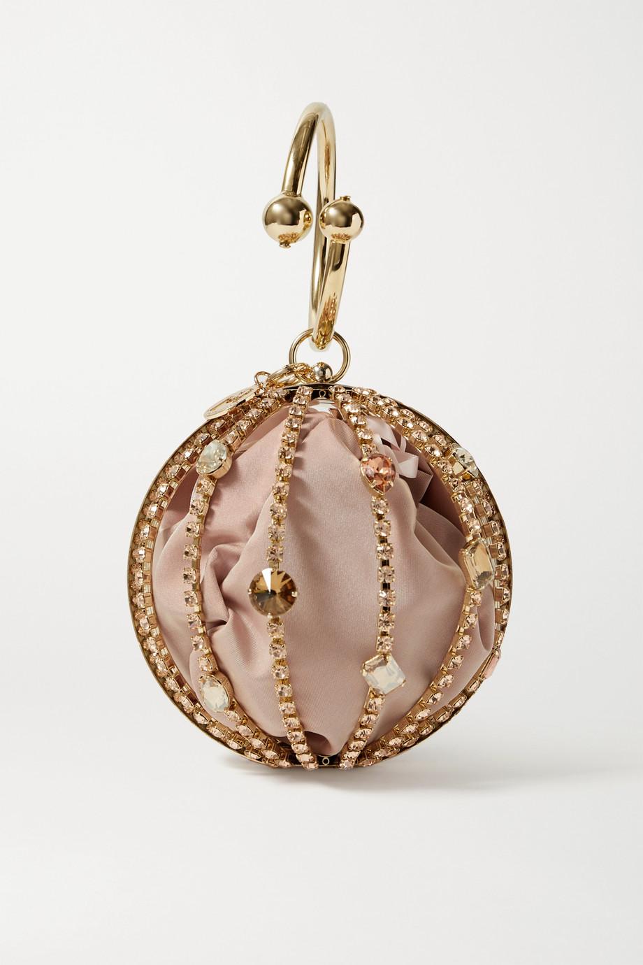 Rosantica Isotta goldfarbene Tote mit Kristallen