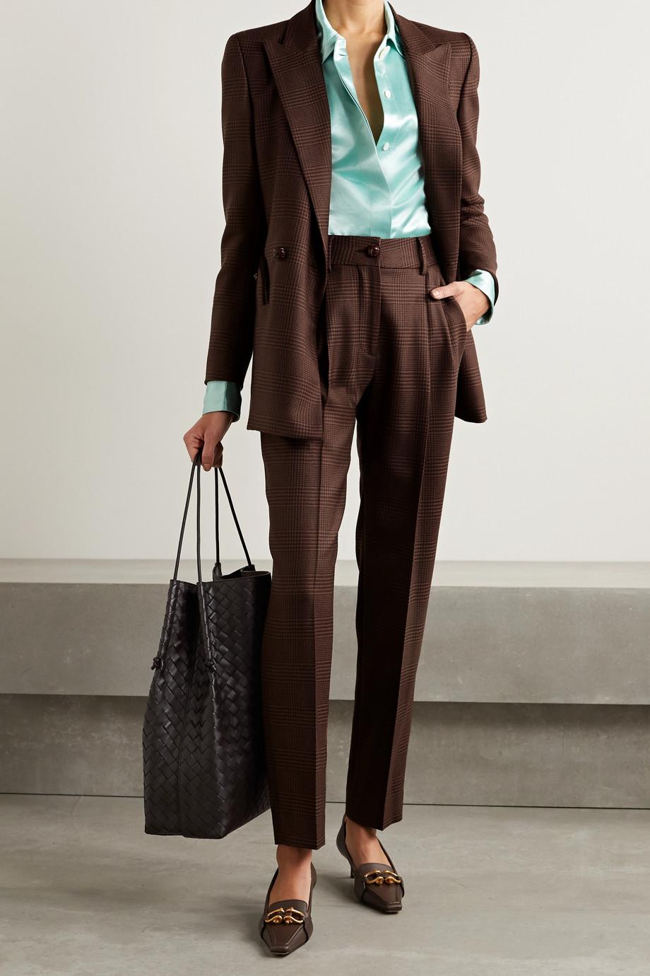 Blazé Milano Pantalon droit en laine à carreaux Voyager Banker