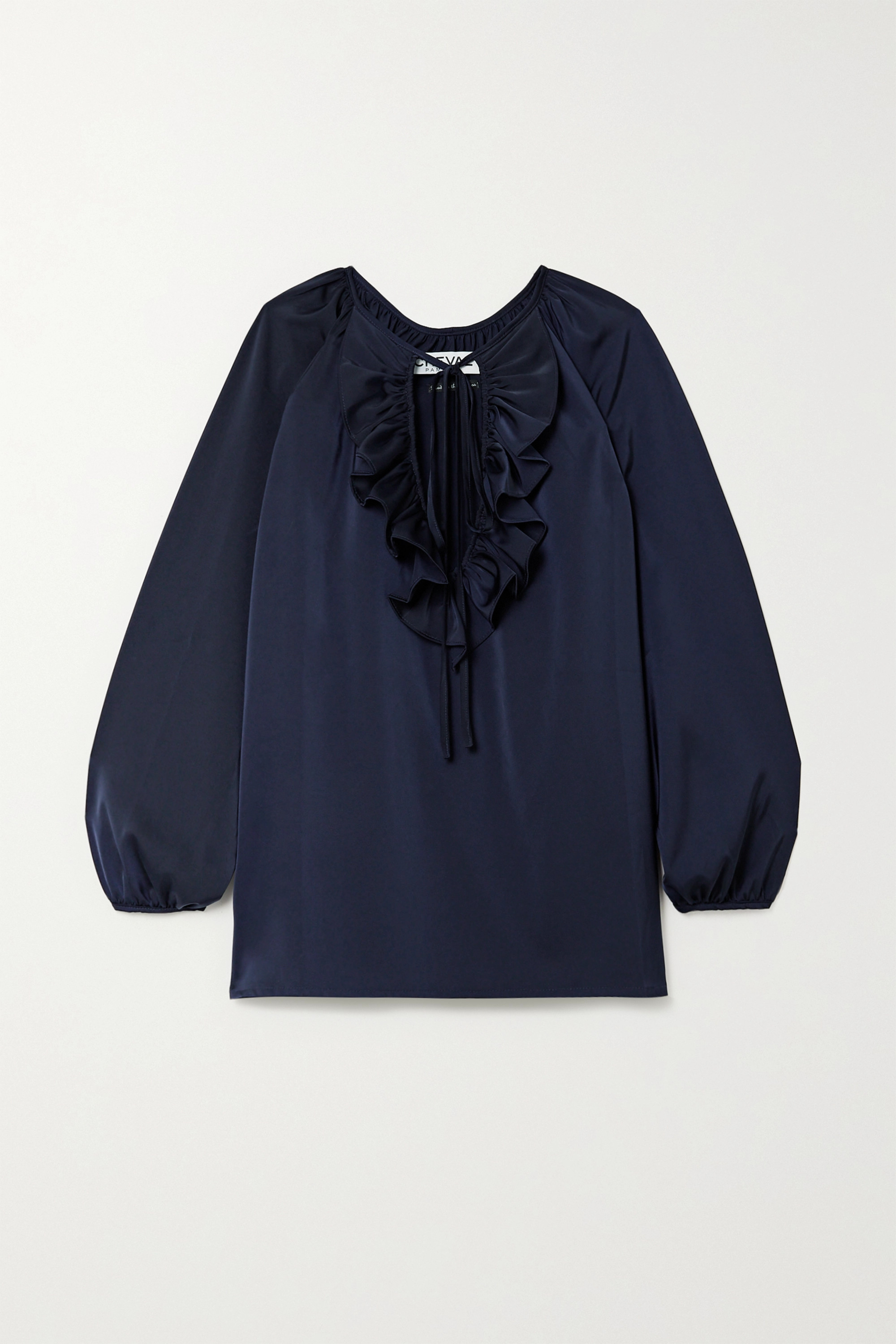 Àcheval Pampa Blouse en satin à volants et à liens Gorrion