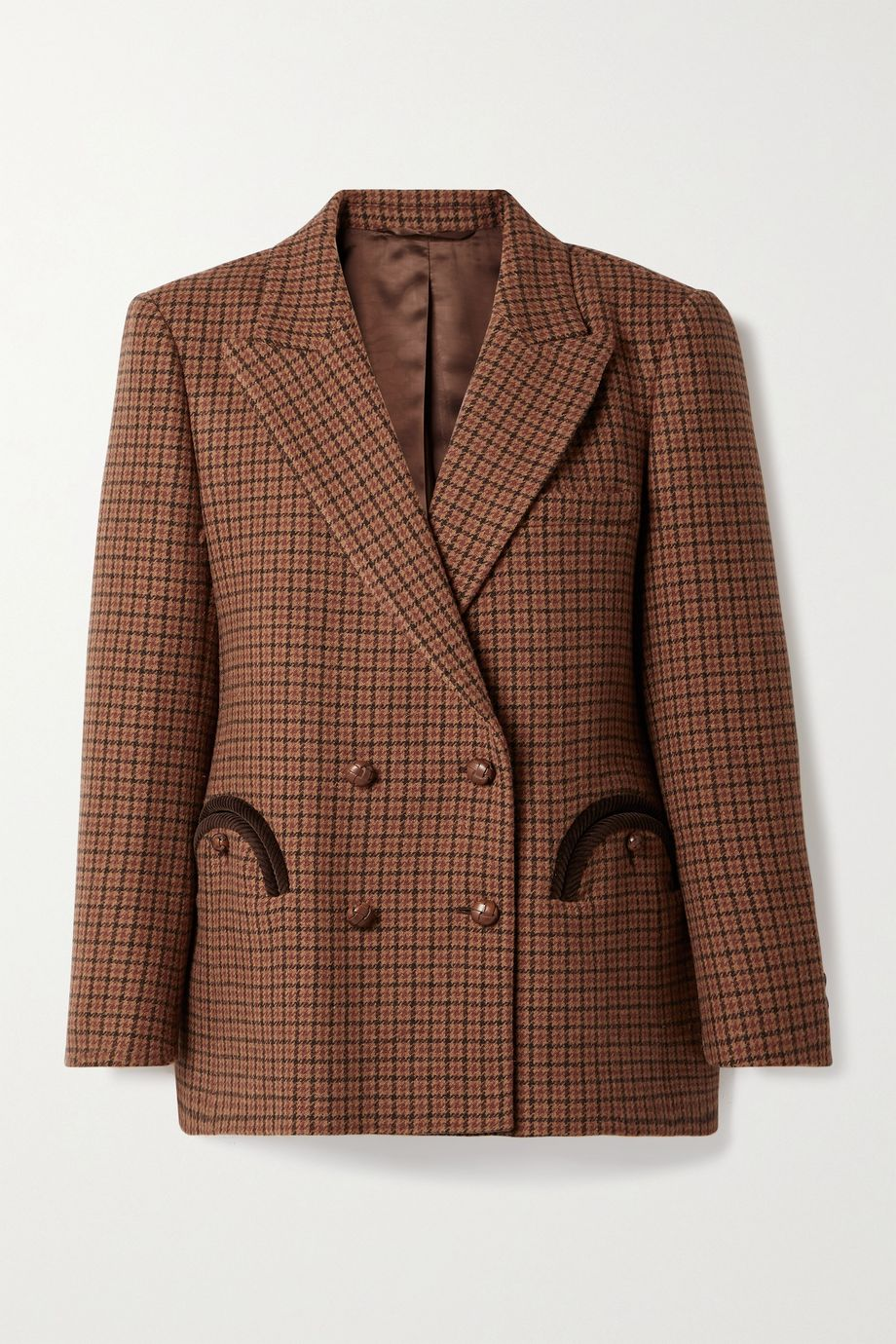 Blazé Milano Rembrandt Everynight double-breasted corduroy-trimmed checked wool blazer
