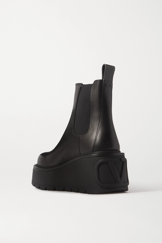 Valentino Valentino Garavani 55 皮革防水台切尔西靴