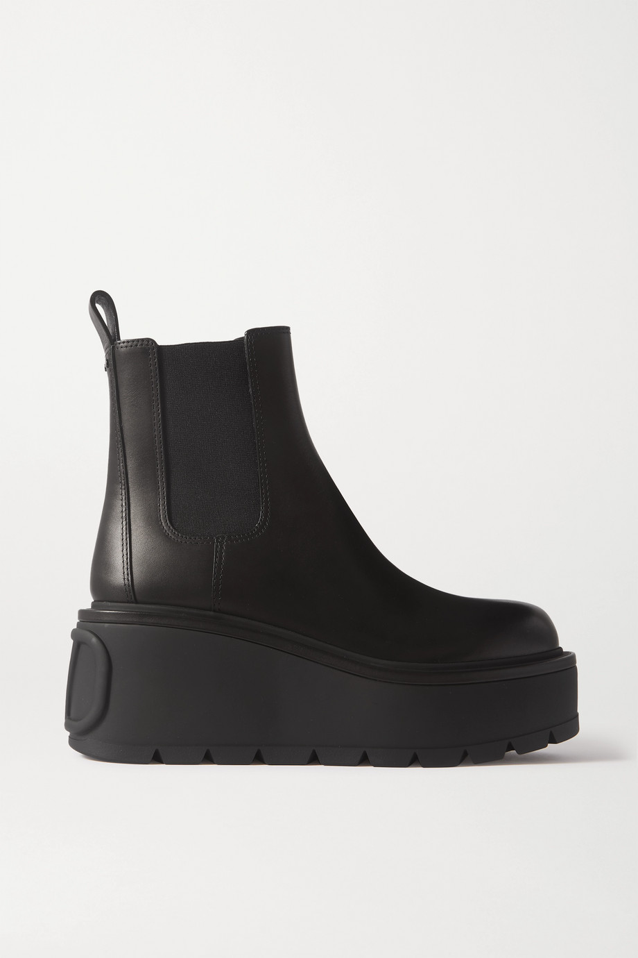 Valentino Valentino Garavani 55 leather platform Chelsea boots