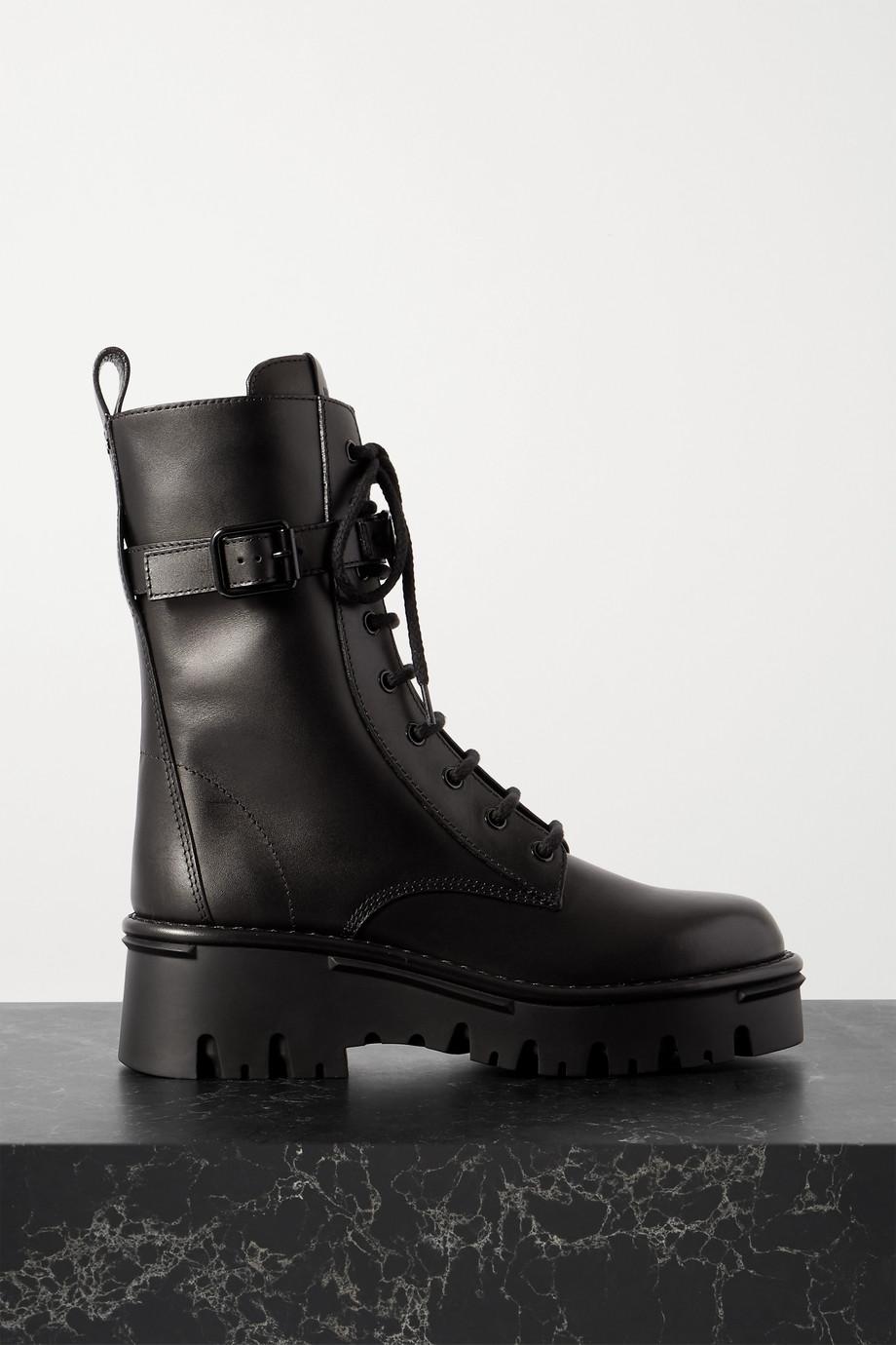 Valentino Valentino Garavani 50 logo-embellished leather ankle boots