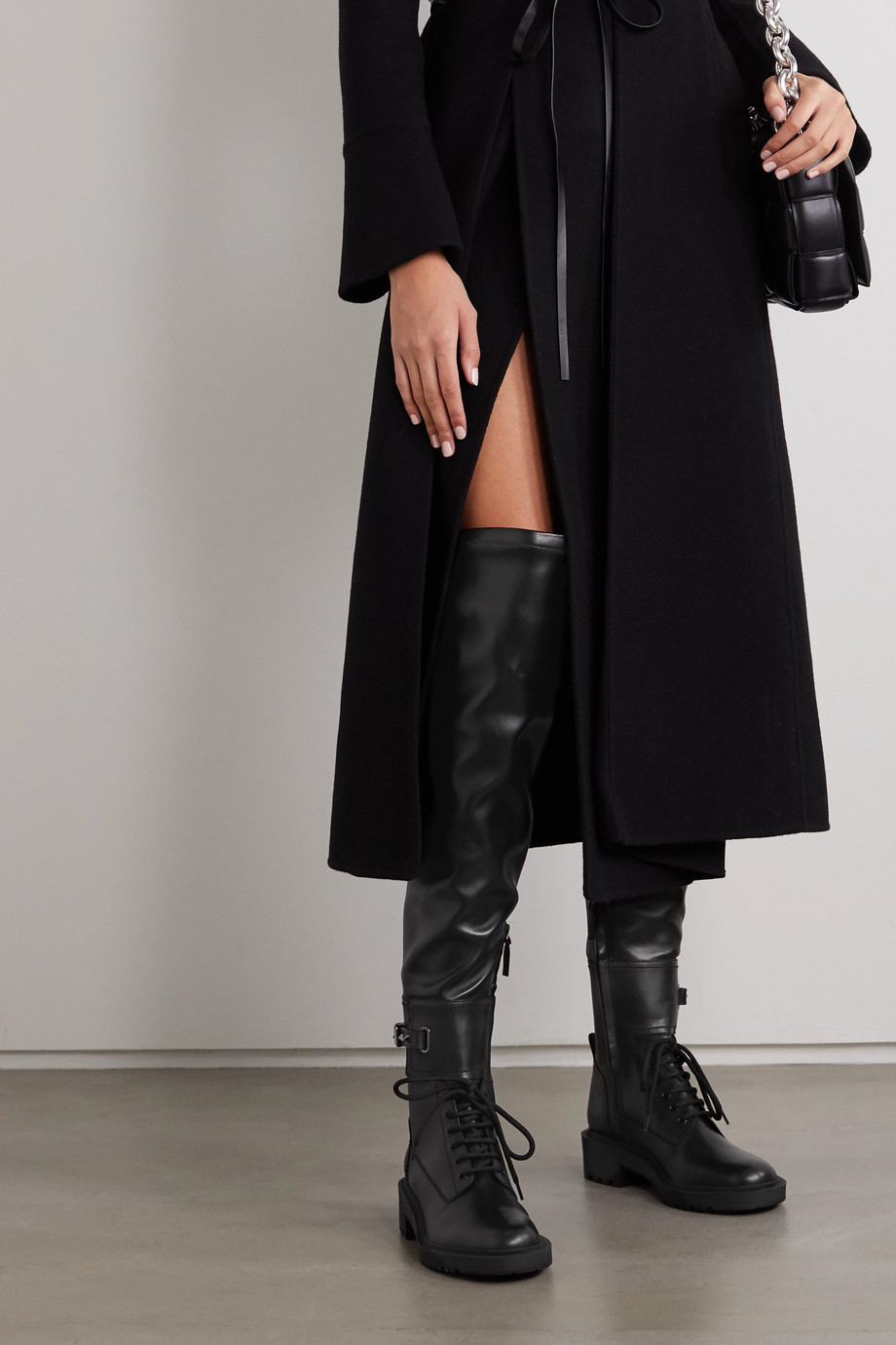 Valentino Valentino Garavani Rockstud 40 leather over-the-knee boots