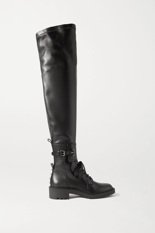 Valentino Valentino Garavani Rockstud 40 leather over-the-knee boots