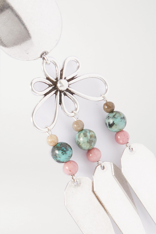 Isabel Marant Jules silver-tone beaded earrings
