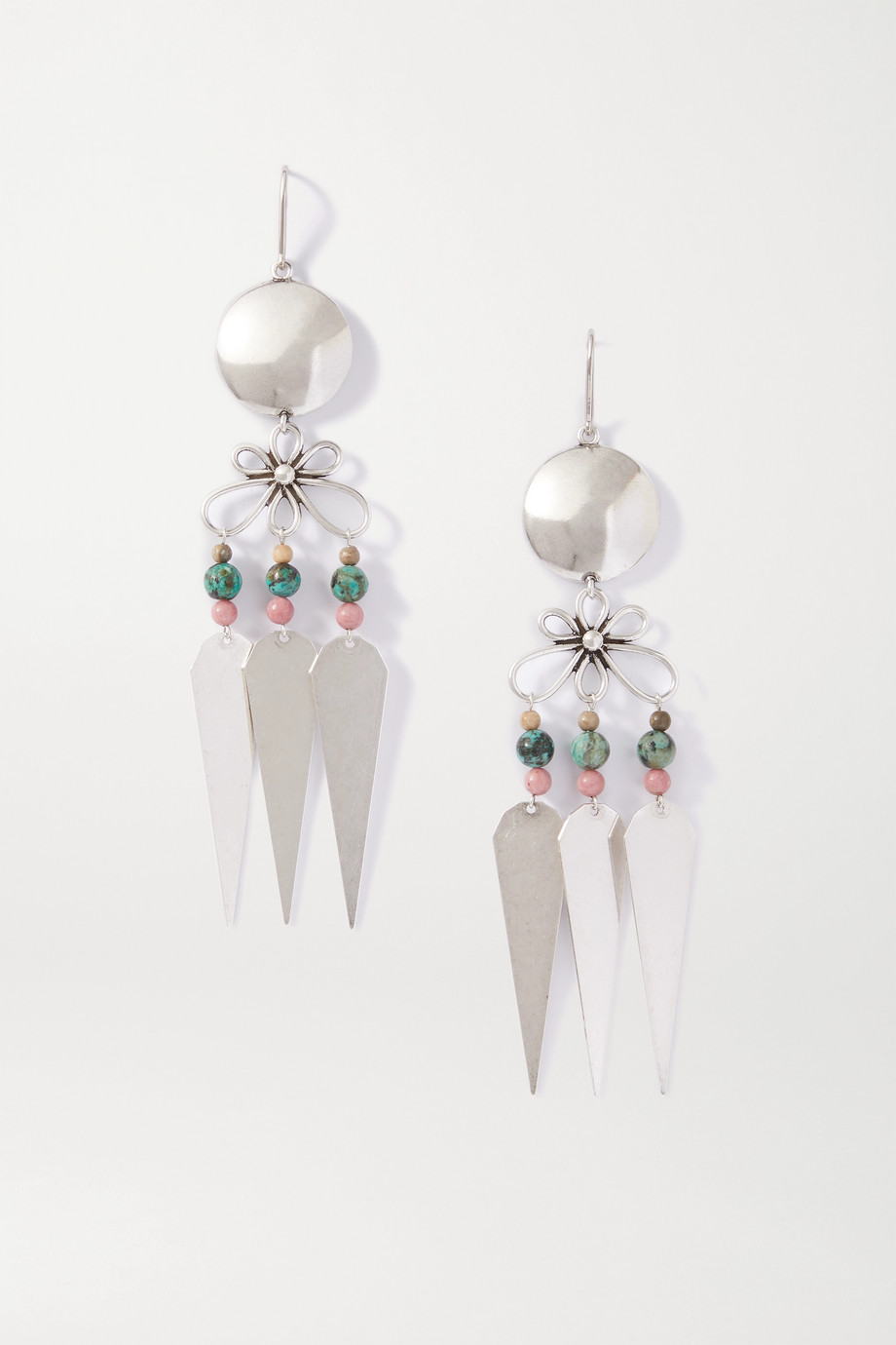 Isabel Marant Jules silver-tone beaded earrings