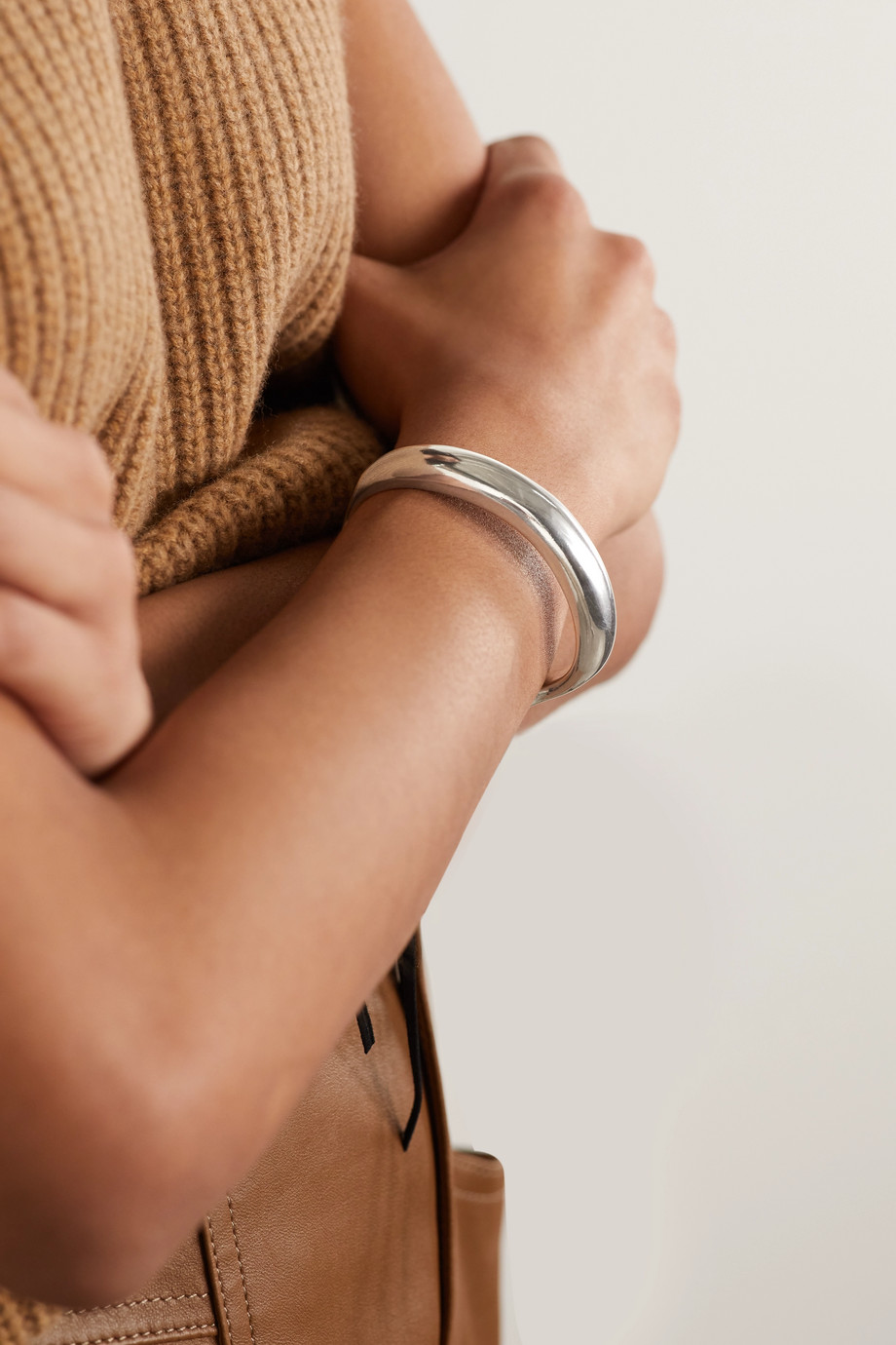 Isabel Marant Silver-tone and leather bracelet