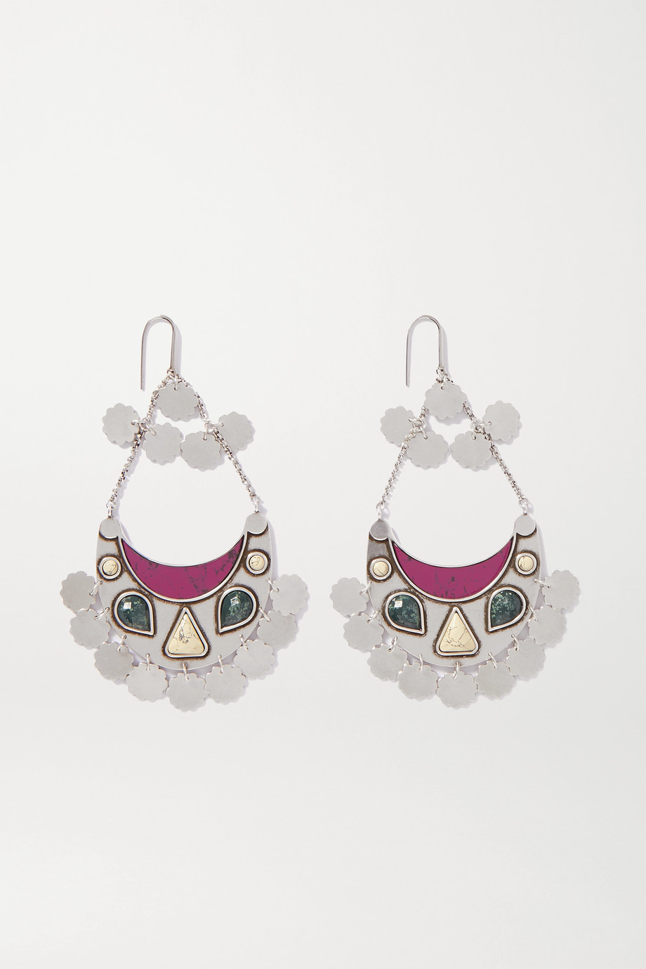 Isabel Marant Move Your Body silver-tone and resin earrings