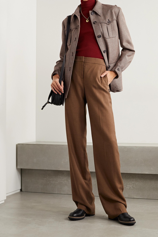 Chloé Jacke aus Wolle mit Hahnentrittmuster und Gürtel