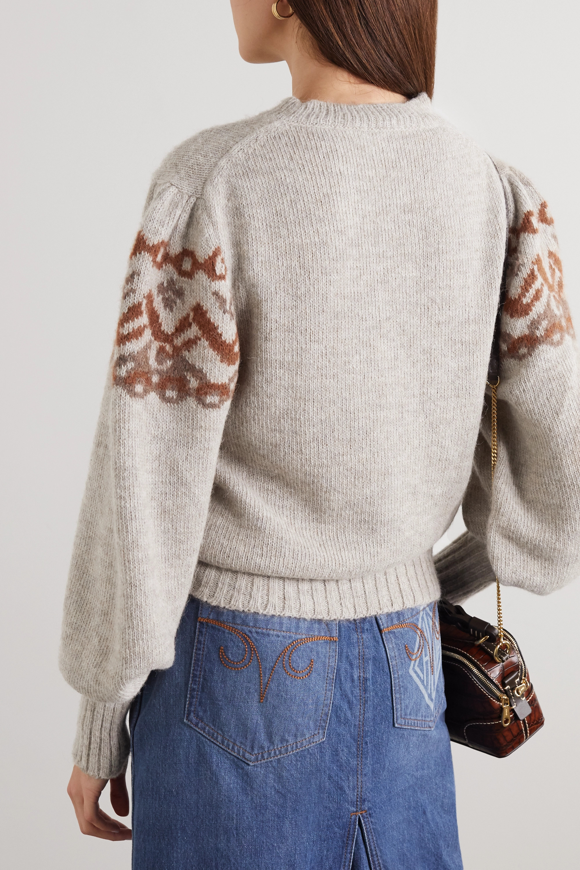 Chloé Fair Isle alpaca-blend sweater